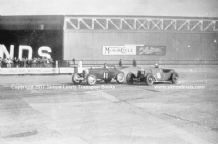 "ASTON MARTIN Le Mans. Photo  ""ALW 1""(Curtis) Salmson GP (Derrington) Brooklands 13 Apr 1936 . Photo"